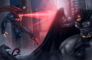 Batman Superman by K-fry-express