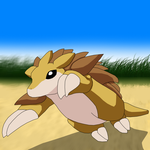 Sandslash running by athosiana