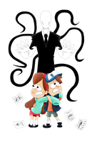 slenderman gravity falls by andyeahFTW