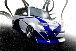 White-Blue Scion by Morfiuss