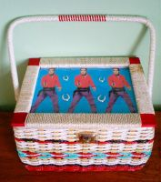 Revamped vintage sewing box by rascalkosher