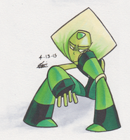 An Actual Peridot by Piranhartist