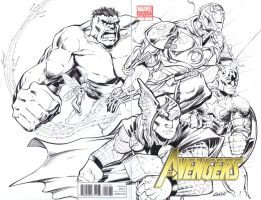 Avengers 1 Sketch Cover by DashMartin