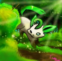 Leafeon by Pand-ASS