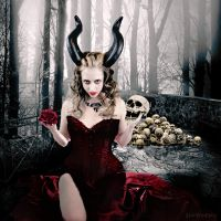 A succubus in rapture by LexiVonEerie