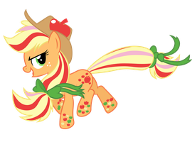 Rainbow Power Applejack by Ashidaru