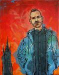 Red Tower (Acrylics/Edding on canvas) by Spoonygee