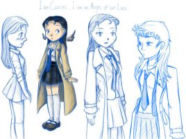 FemCastiel Sketchdump by Artemismoon12
