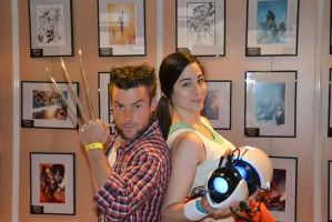 Chell and Wolvie ! by Naelia12