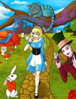Alice in Wonderland by KimReno