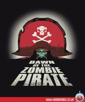 Dawn of the Zombie Pirate T-shirt Design by alsnow
