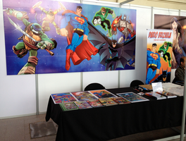 Booth -  Comic Con Chile 2013 by DarioBrizuelaArtwork
