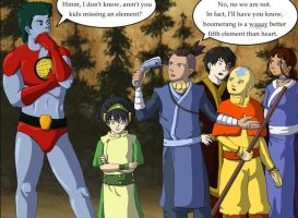 Gaang meets Captain Planet by EricMHE