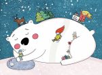 Christmas Polarbear- lettipaa by childrensillustrator