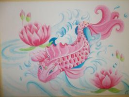 Pink Koi by yessica83