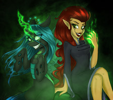 Crossover Time! - Wuya and Chrysalis by HarmoniousRain