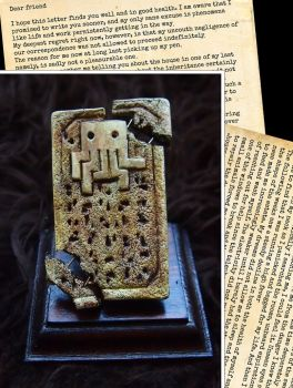 Cthulhu Clay Tablet with Letter by AdventureDepot