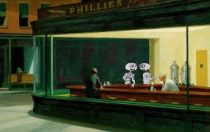 Zombie Nighthawks by anubis9