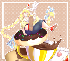 Coffee and Donut by theycallhimcake
