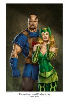 Executioner and Enchantress by MitchFoust