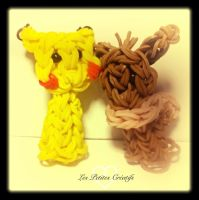Pikachu and Eevee Pencil Toppers by H3LLoK66aren99