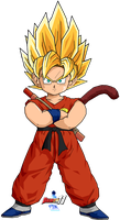Kid Goku SSJ by Dairon11