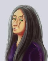 Alessa Portrait Experiment by ErnCer