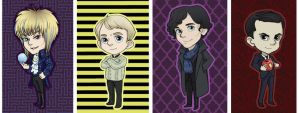 Sherlock and Jareth Chibis by Sugarling