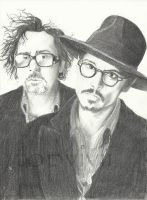 Burton and Depp by ViviDybowski