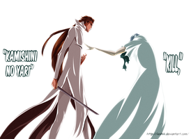 Gin and aizen by ioshik