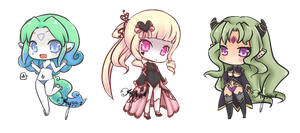 some chibis by ayrra