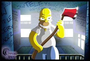 Sin Tele y Sin Cerveza by The-Simpsons-Club