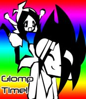 Glomp Time by Painted-ghost