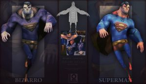Superman vs Bizarro by DuncanFraser