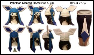 4th Gen - Shiny Glaceon Hat and Tail by LiliNeko