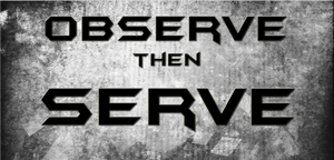 Observe then Serve by ThisDyingDog