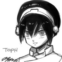 Toph Head Sketch by johnjoseco