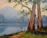 Lake Gum Trees by artsaus
