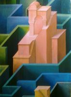 Towers in Labyrinth Unfinished_detail by MedaGritzko
