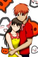 .:Kyo and Tohru:. by Lonely-Mitsukai