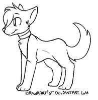 Free Wolf/Canine/Fox Lineart :PAINT FRIENDLY: by RawrArtist