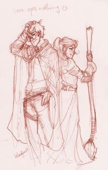 Harry and Ginny by burdge