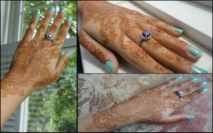 Lace Glove-Henna by A-w0man