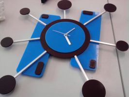 Abstract Clock by ChubbaART