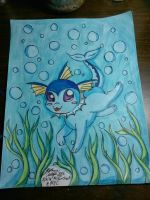 Vaporeons underwater adventure by Miku-chan9