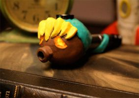 Deku Link Smoking Pipe by LunarVoyagePropCo