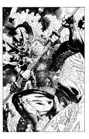 AQUAMAN - Cover sample inks over Jim Lee. by lebeau37