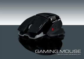 Digital Drawing Practice #2 - Gaming Mouse by devil-of-my-own