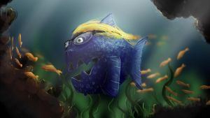 A Fish With Glasses by cobartblue