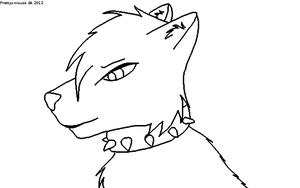Free Male Wolf Lineart~ by Prettyxmouse